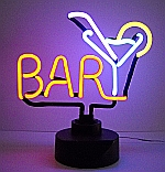 NEON BAR MARTINI HANGWALL SCULPTURE 14