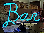 NEON BAR SCRIPT HANGWALL SCULPTURE 14