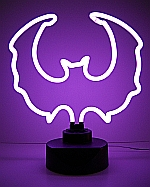 NEON PURPLE BAT  HANGWALL SCULPTURE 15