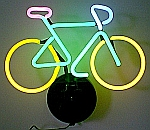 NEON BICYCLE  HANGWALL SCULPTURE 16