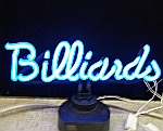 NEON BILLIARDS HANGWALL SCULPTURE 18