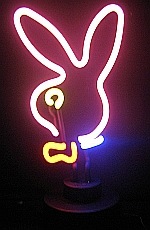 NEON BUNNY HEAD  HANGWALL SCULPTURE 8