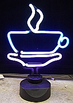 NEON COFFEE CUP HANGWALL SCULPTURE 12