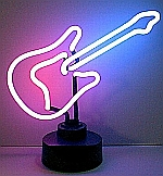 NEON GUITAR HANGWALL SCULPTURE 16