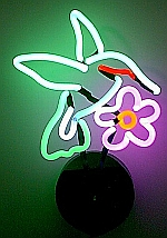 NEON HUMMINGBIRD HANGWALL SCULPTURE 11
