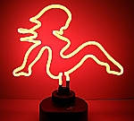 NEON MUD FLAP GIRL  HANGWALL SCULPTURE 14