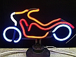 NEON MOTORCYCLE HANGWALL SCULPTURE 17