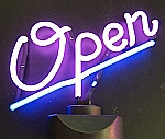 NEON OPEN HANGWALL SCULPTURE 14