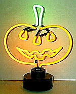 NEON PUMPKIN HANGWALL SCULPTURE 12