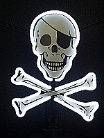 NEON SKULL AND CROSSBONES HANGWALL SCULPTURE 9