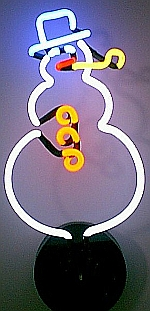 NEON SNOWMAN CHRISTMAS HANGWALL SCULPTURE 9