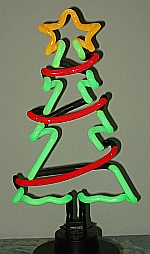NEON CHRISTMAS TREE WITH GARLAND  HANGWALL SCULPTURE 8