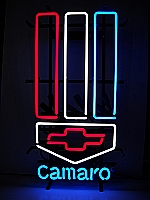 NEON CAMARO HANGWALL SIGN 14