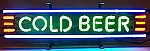 NEON COLD BEER HANGWALL SIGN 24