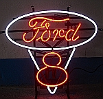 NEON FORD V8 HANGWALL SIGN 18