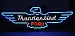NEON FORD THUNDERBIRD HANGWALL SIGN 32