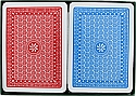 Red Blue jumbo index plastic playing cards poker size plastic cards A Plus